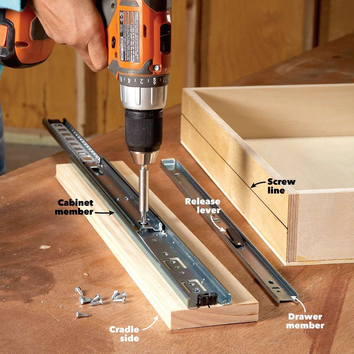 Kitchen Cabinet Drawer Kits: How To Build Under-Cabinet Drawers & Increase Kitchen