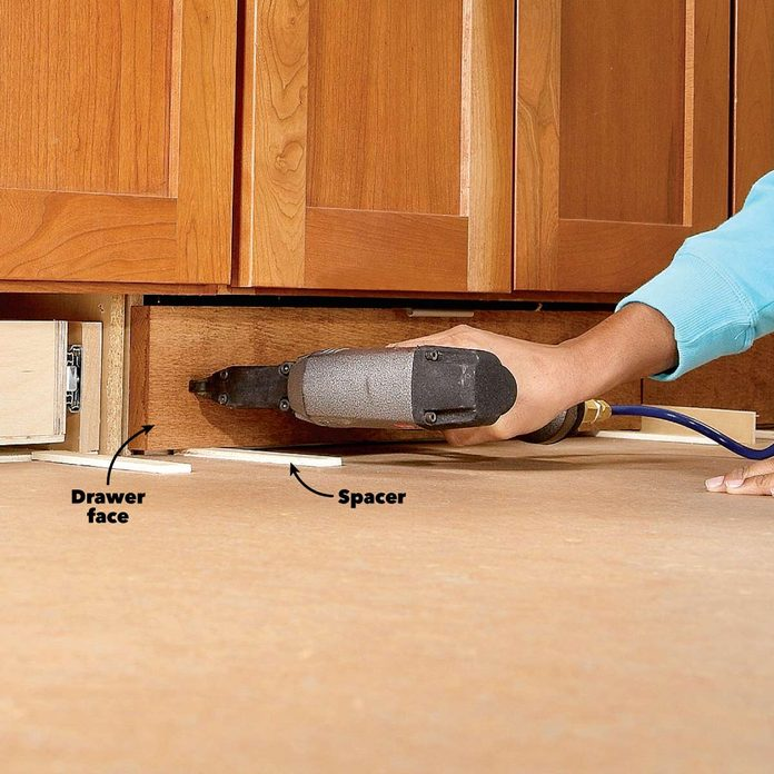 under cabinet drawer add drawer front