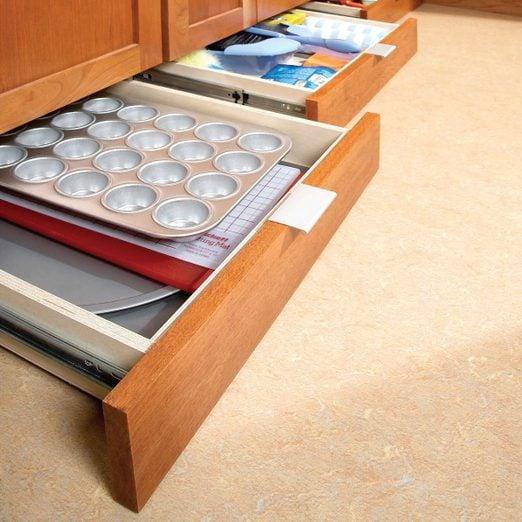 How To Build Under Cabinet Drawers, Lower Kitchen Cabinet Storage Ideas