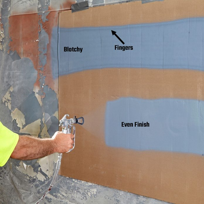 showing the different kinds of finishes from spray paint   Construction Pro Tips