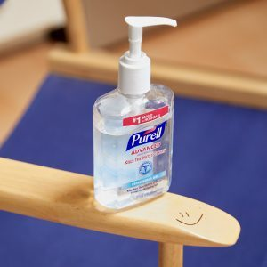 HH hand sanitizer remove stain