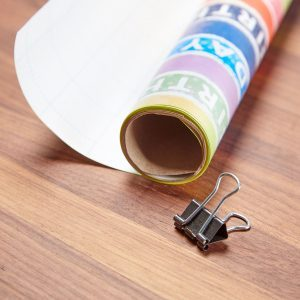 HH wrapping paper binder clip