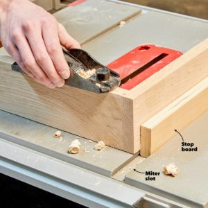 Stops for Your Table Saw Workbench
