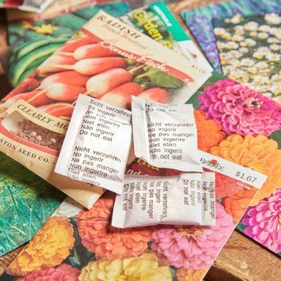 HH silica packets gardening flower seeds