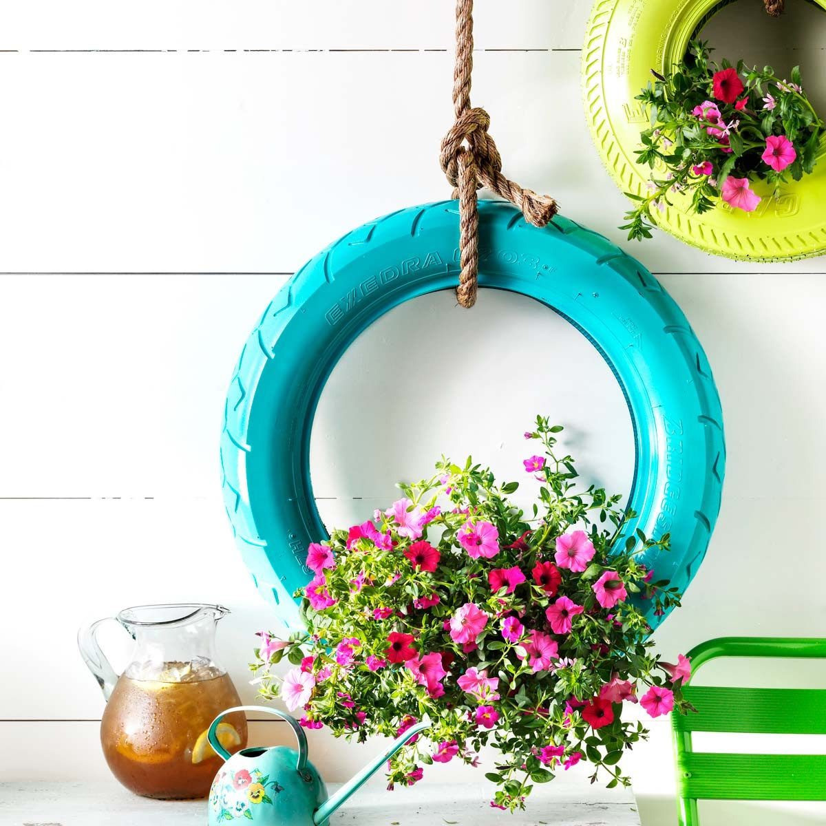 How To Turn An Old Tire Into A Hanging Planter Family Handyman