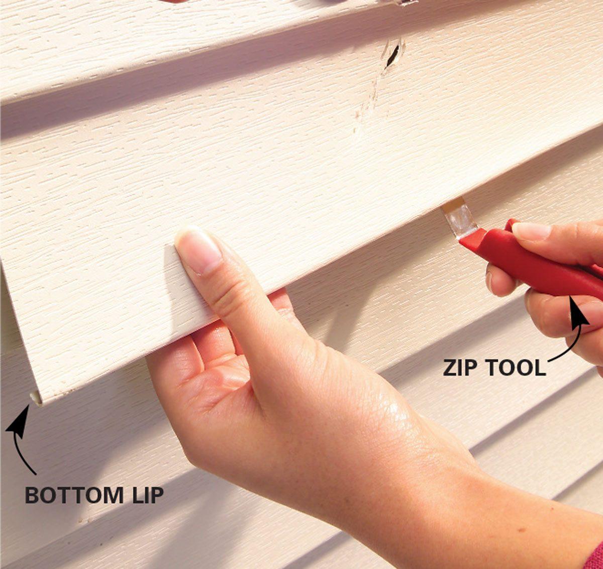 vinyl siding repair zip tool