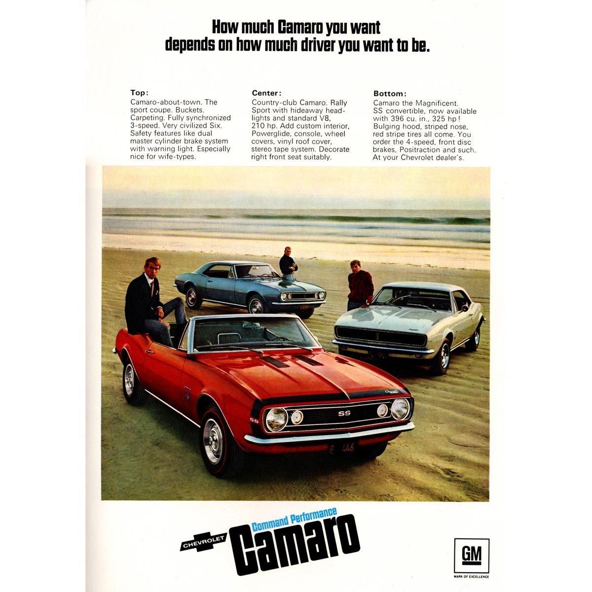 1967 Chevy Camaro Ad