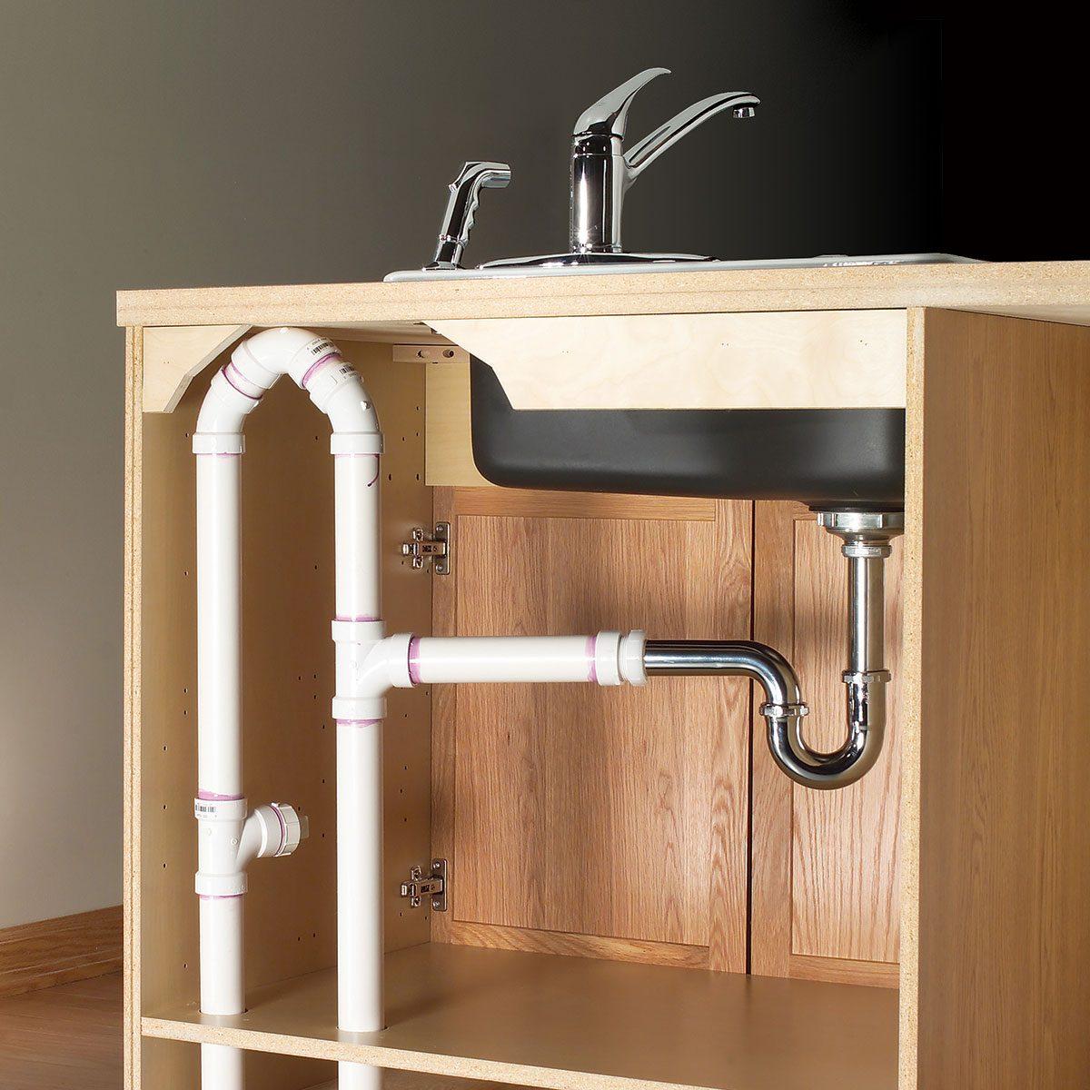Plumbing under kitchen diagram sink Under Kitchen
