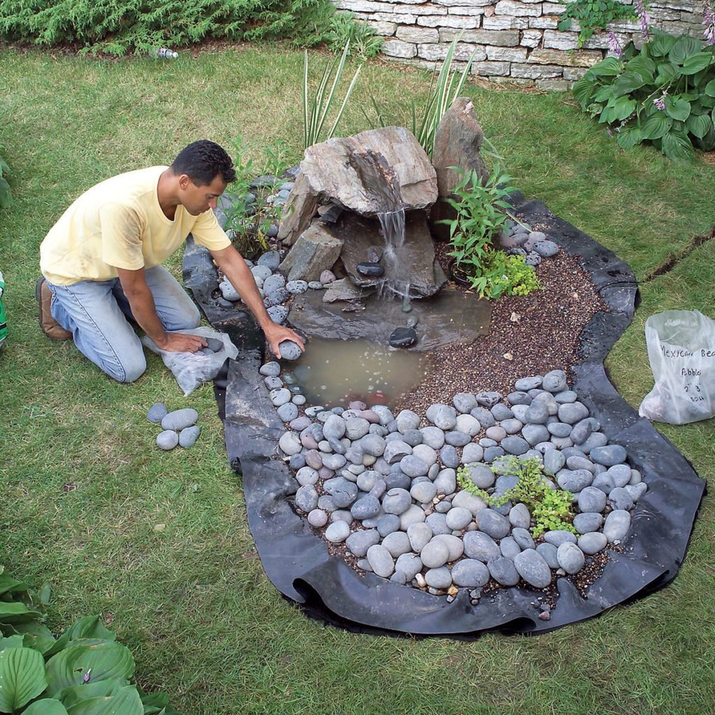 How To Build A Low Maintenance Water Feature Diy Family Handyman