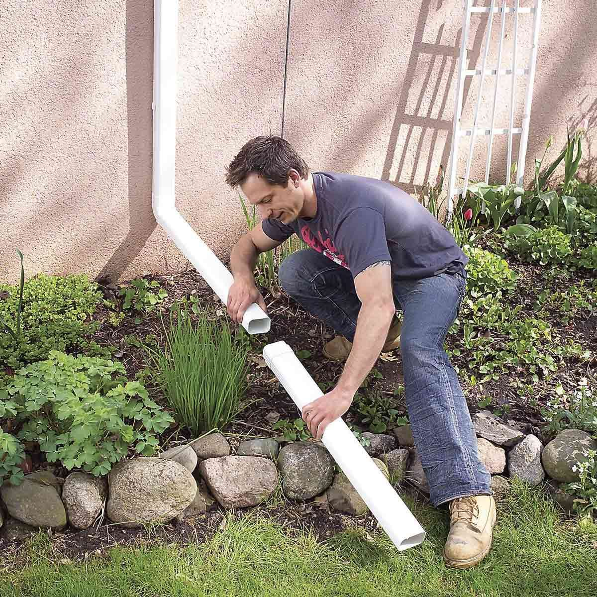 How to Achieve Better Yard Drainage | Family Handyman Rain Garden Discharge Sump Design on sprinkler discharge, effluent discharge, drainage discharge, pump discharge, water discharge, condensate discharge,