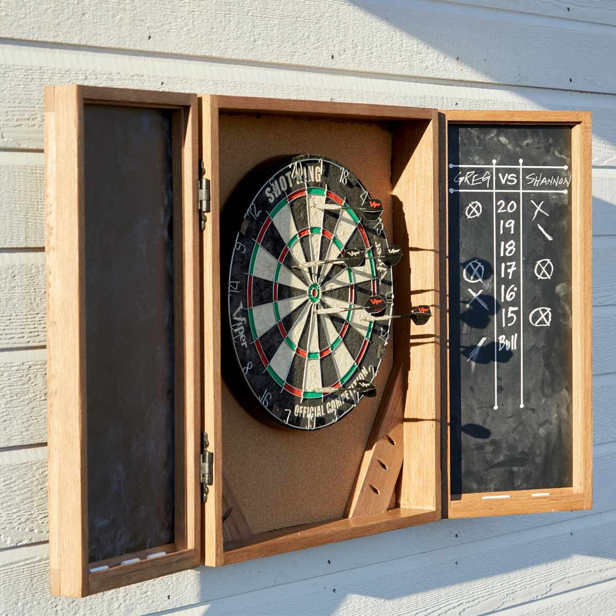 How To Build A Dartboard Cabinet Family Handyman