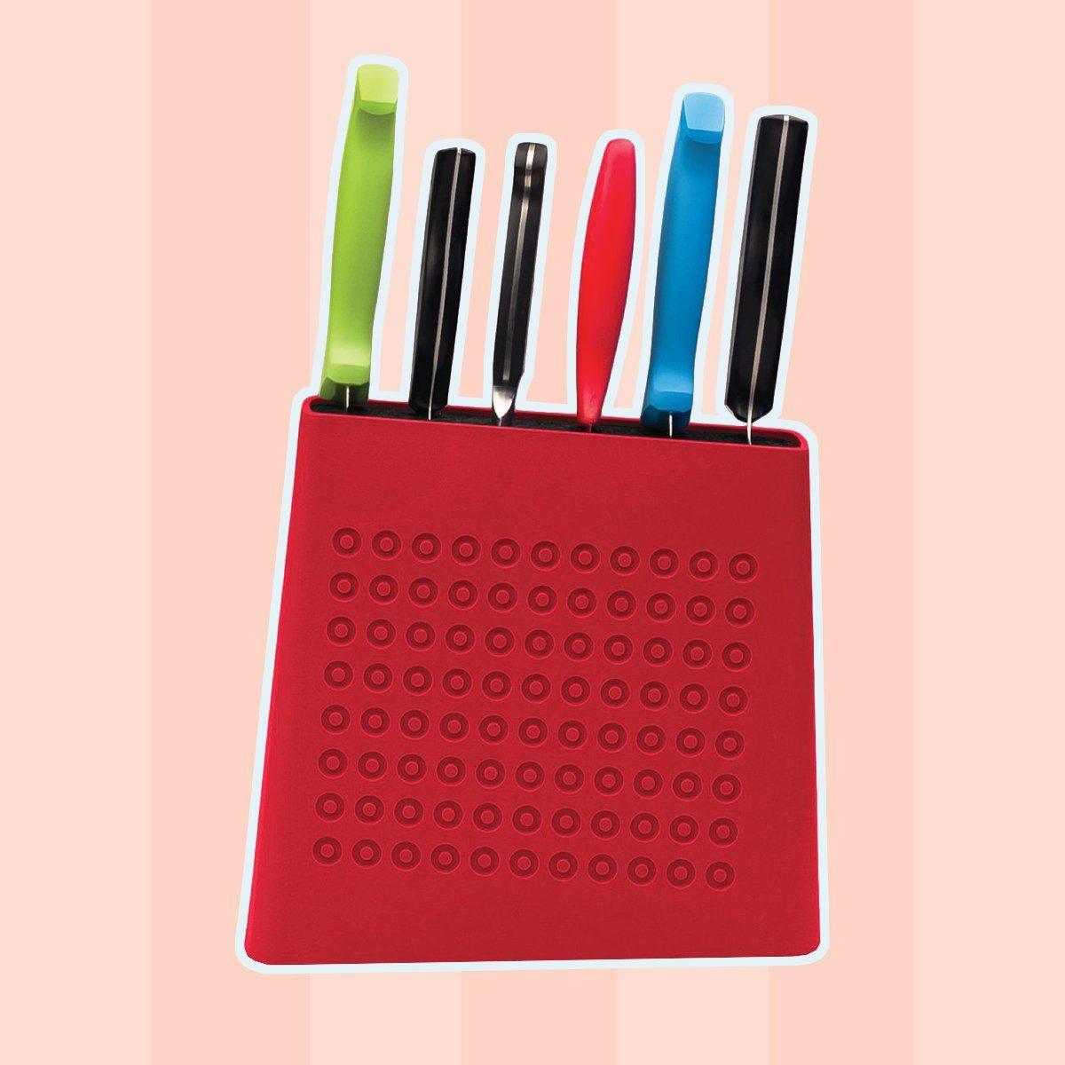 Kapoosh Urban Universal Knife Block- Cherry Red