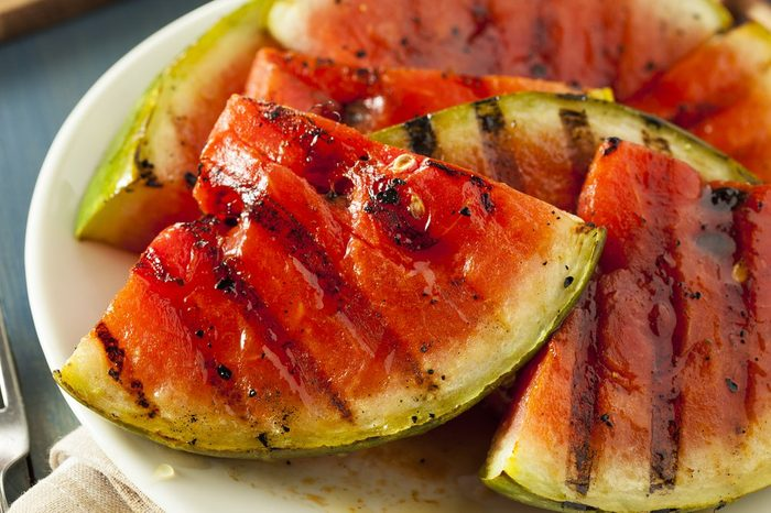Ripe Healthy Organic Grilled Watermelon with Honey