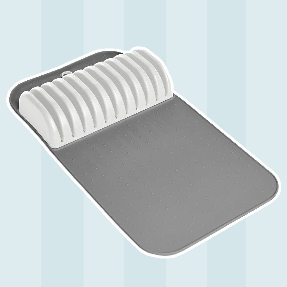 madesmart Large In-Drawer Knife Mat - White | CLASSIC COLLECTION | Holds up to 11 Knives | Safe | Open Design to fit Any Size Knife | Soft-grip Slots and Non-slip Mat | BPA Free