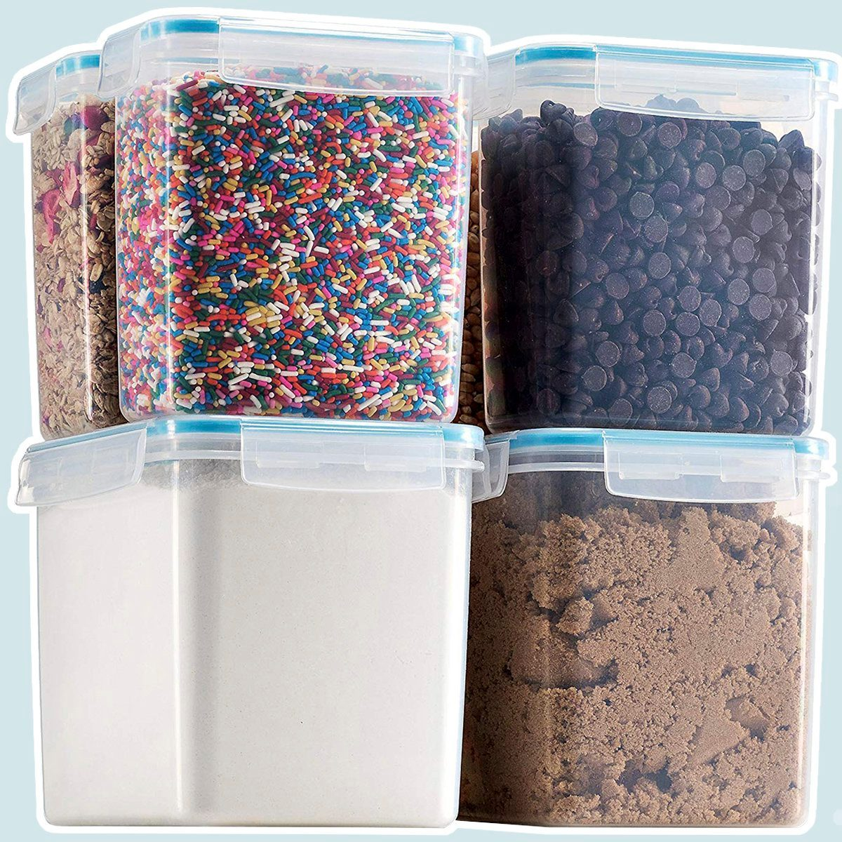 Komax Biokips Flour and Sugar Storage Containers
