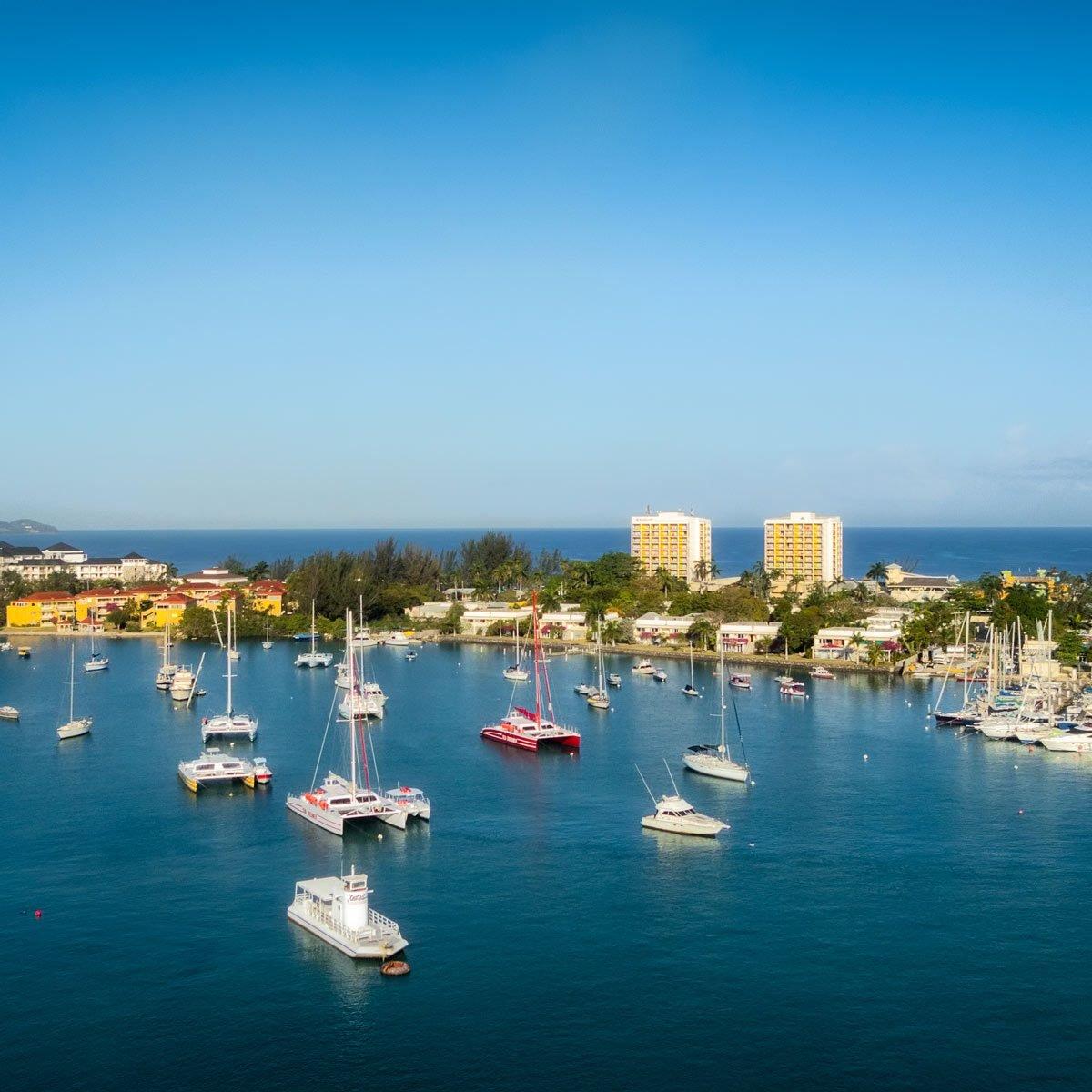 aerial view of Montego Bay Jamaica