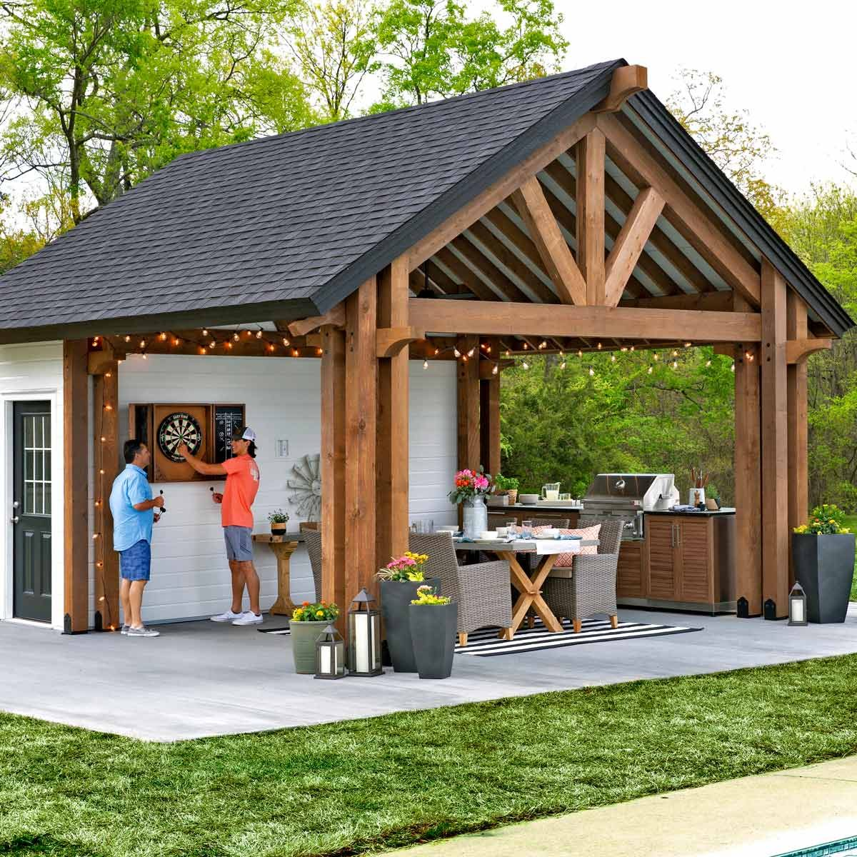 Outdoor Kitchen Pavilion Shed | The Family Handyman