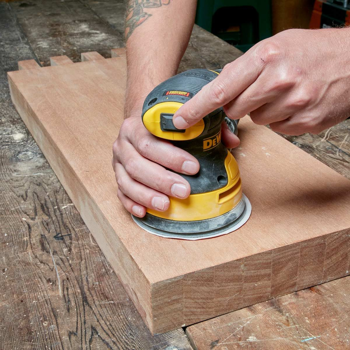 Sanding-with-Random-Orbit-Sander
