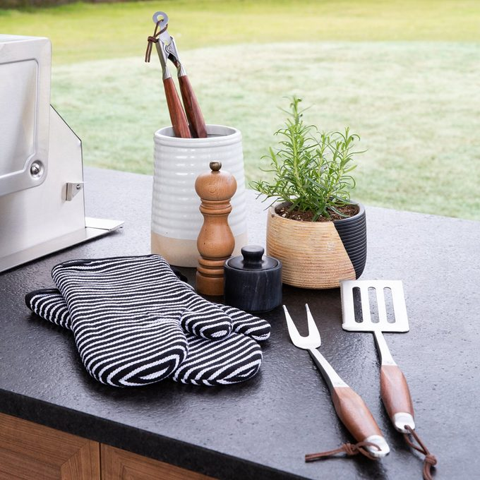 Outdoor grilling tools at the Shed