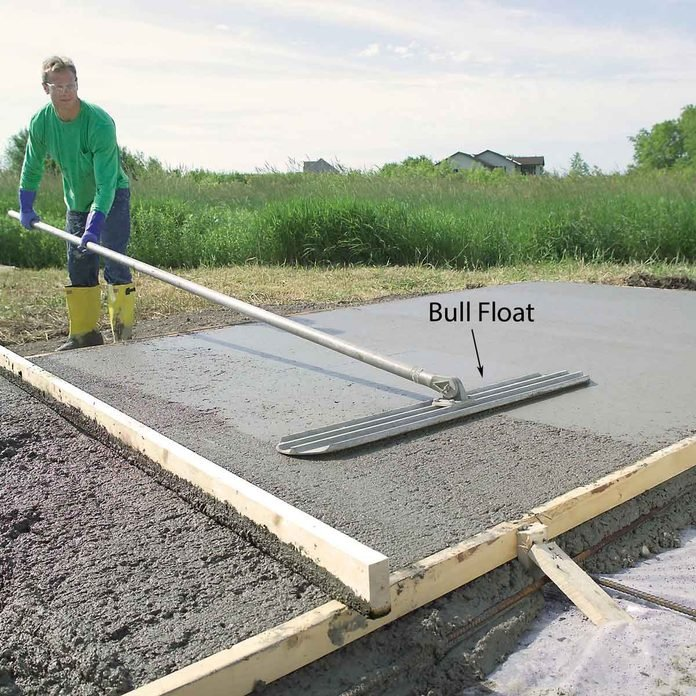 Flatten with a Bull Float