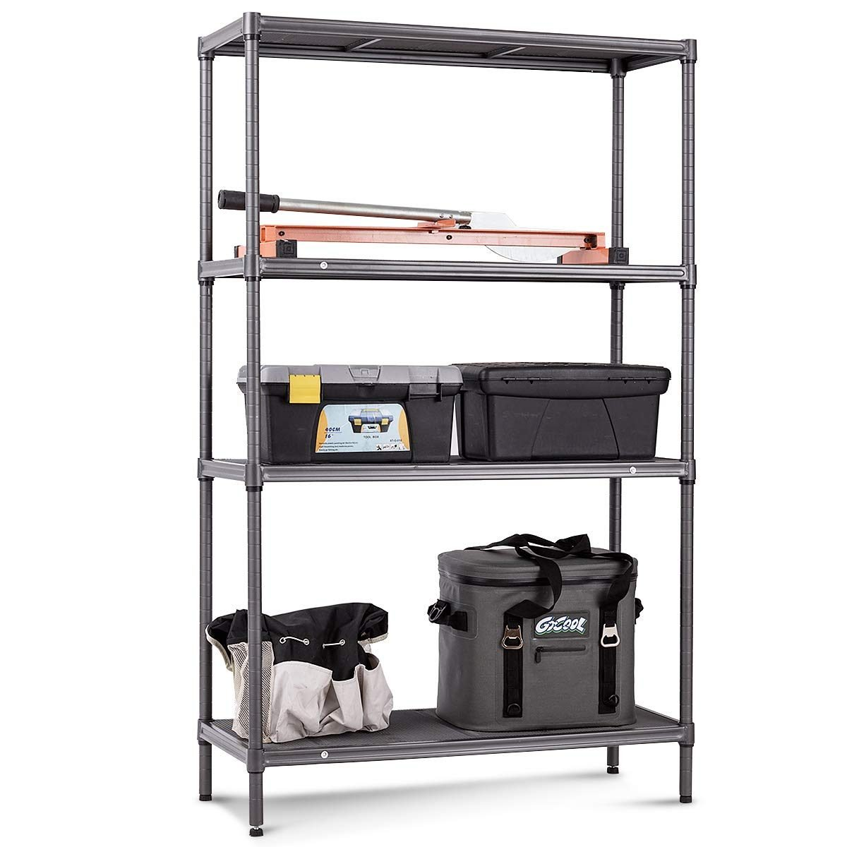 metal shelf organizer