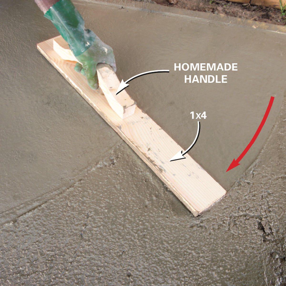 How To Finish Concrete Family Handyman