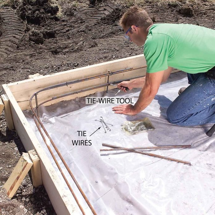 Tie in the Rebar to Strengthen the Slab