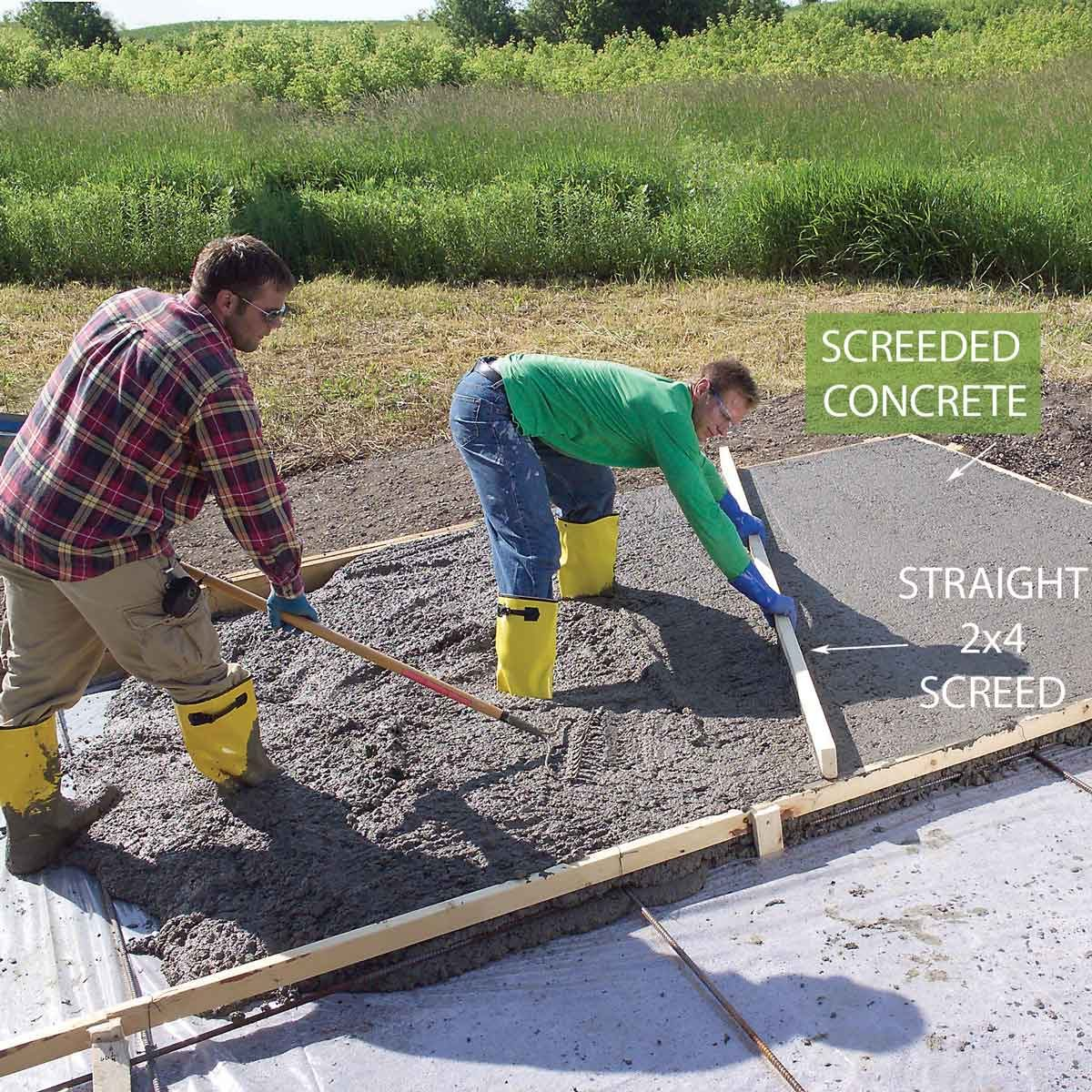 Pour and Level the Concrete