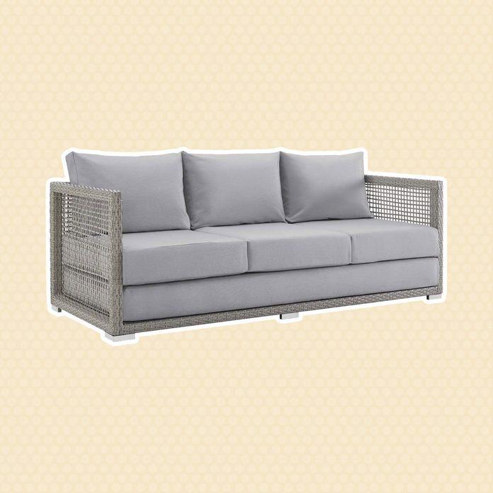 Wicker Rattan Sofa