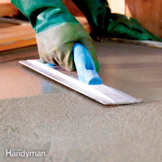 How To Finish Concrete Diy Family