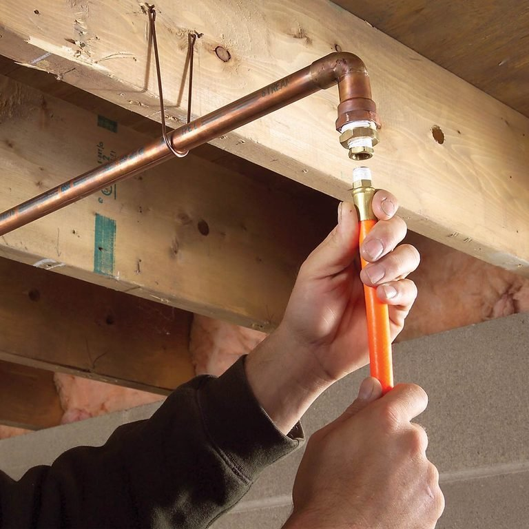 running compressed air hose lines in a shop