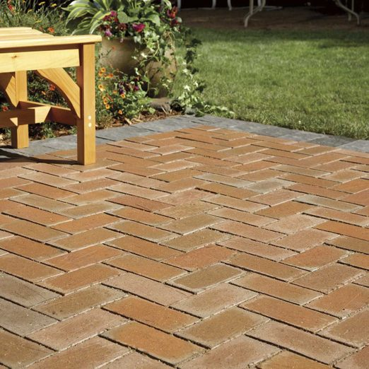 How To Cover A Concrete Patio With Pavers Diy Family Handyman