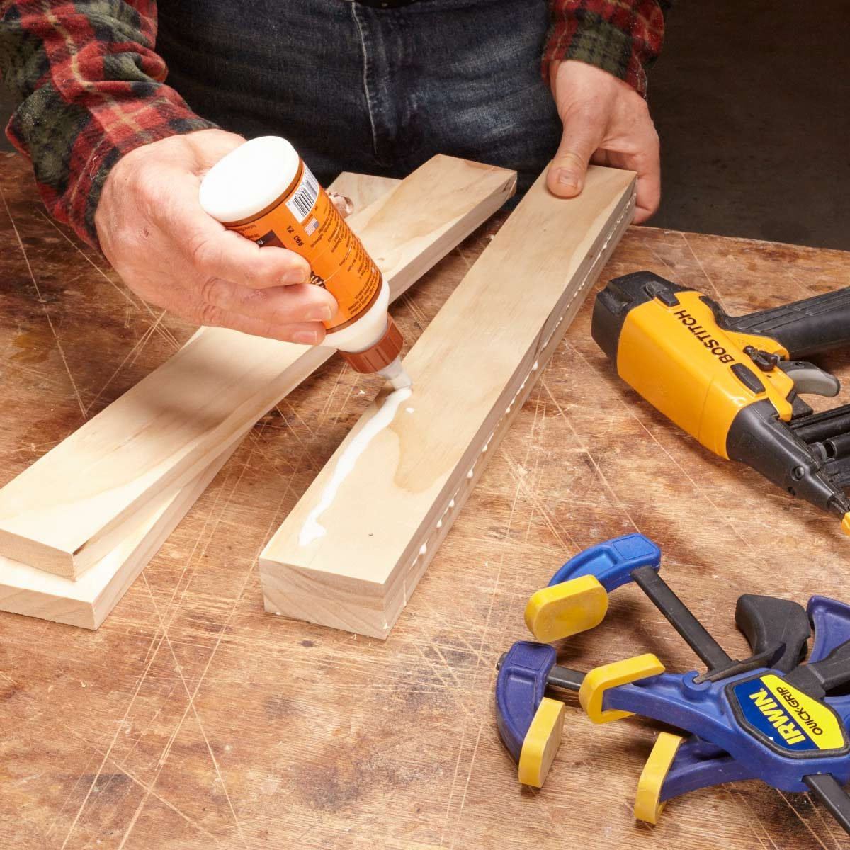 finish nailer nail before you clamp