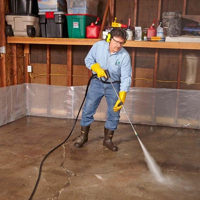 Garage Floor Resurfacing Fix A Pitted