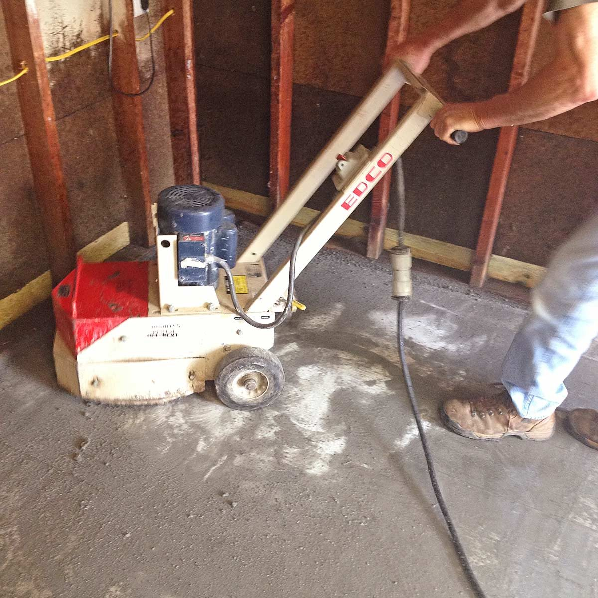 Garage Floor Resurfacing Fix A Pitted Family Handyman