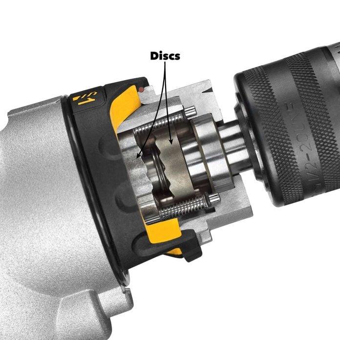 hammer vs rotary drill inside a hammer drill