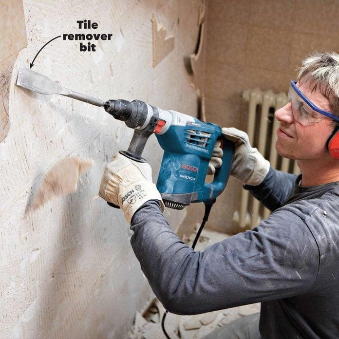 rotary vs hammer drill tile remover bit