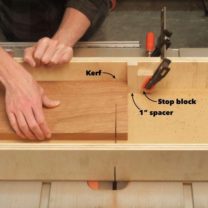 pivoting coat rack cut parts to width