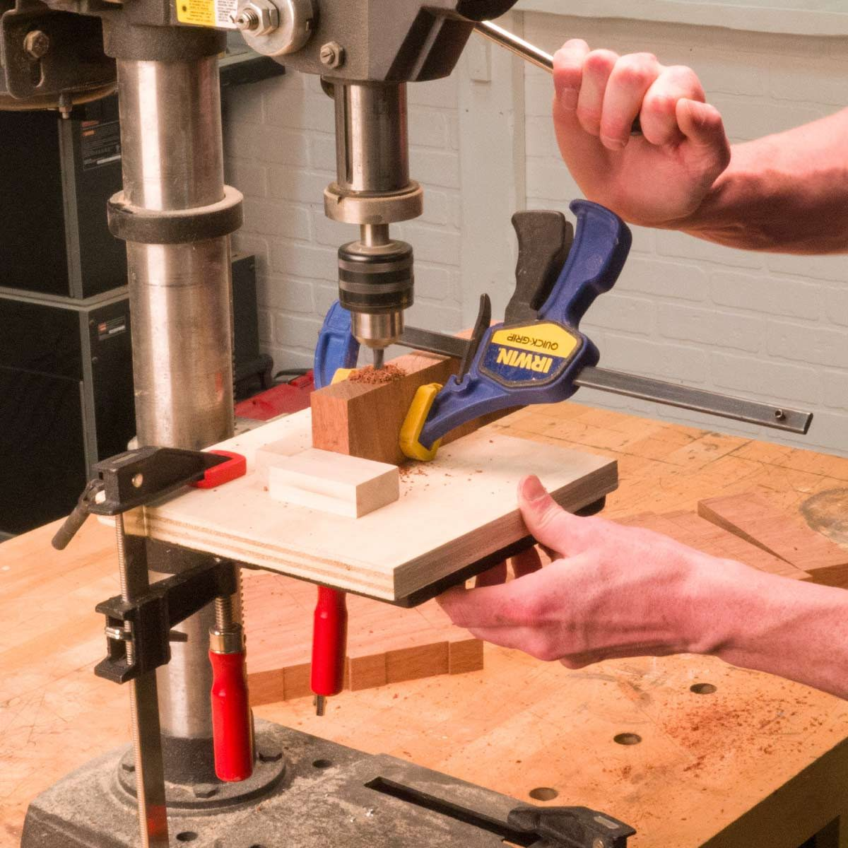 modern pivoting coat rack drill holes