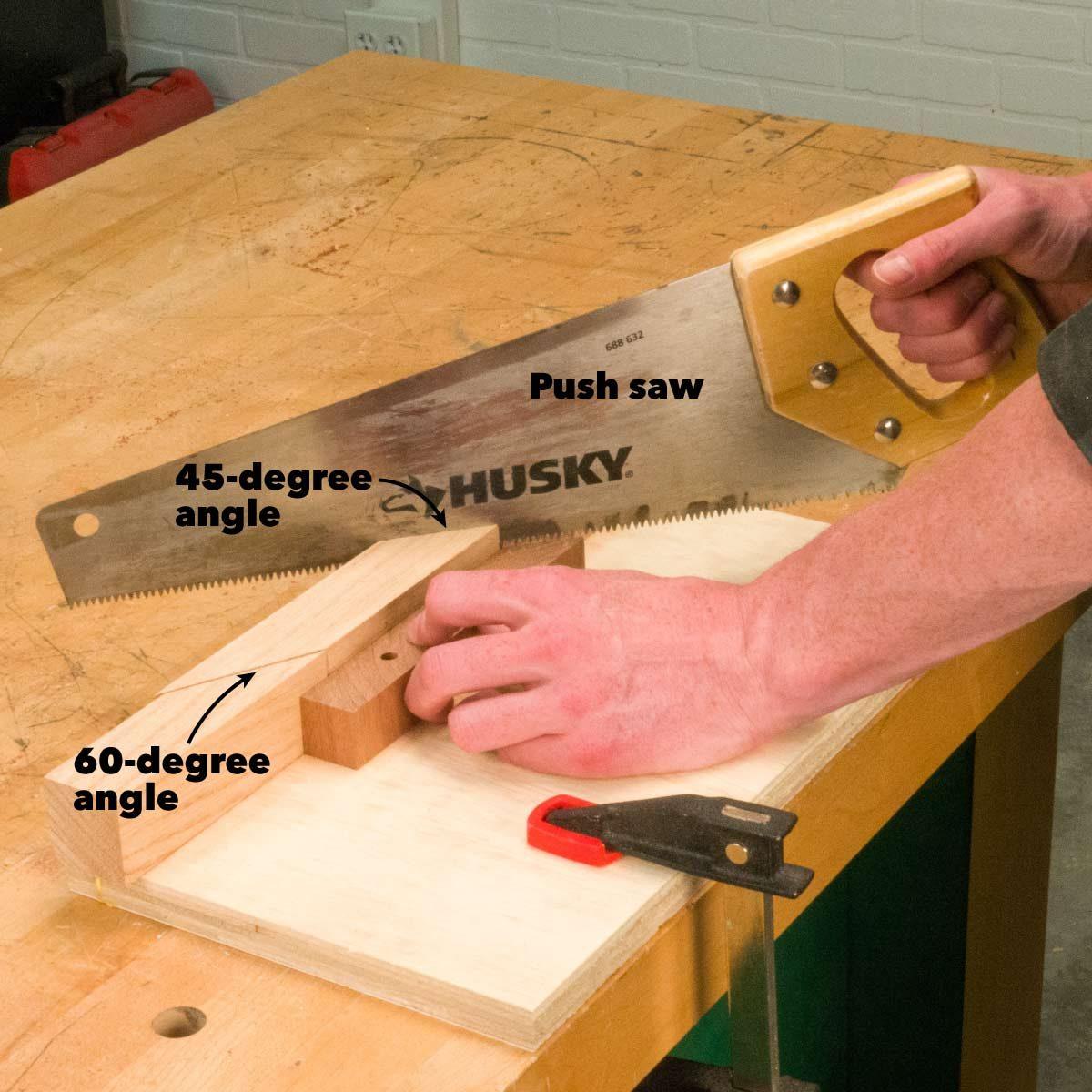 modern pivoting coat rack miter box cut angles