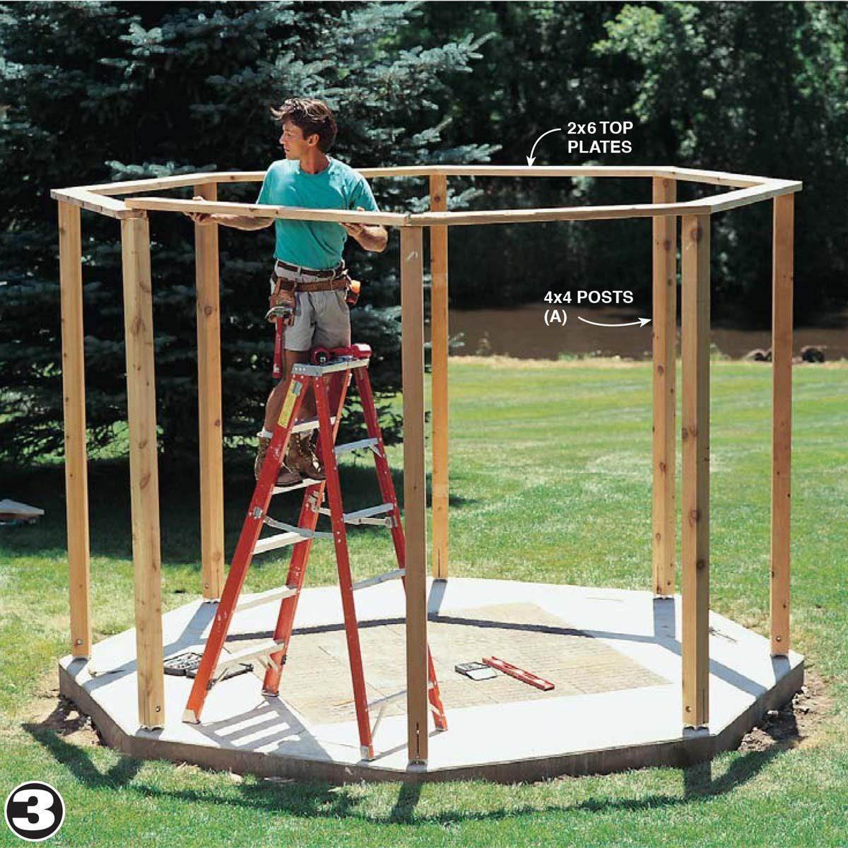 build framing gazebo