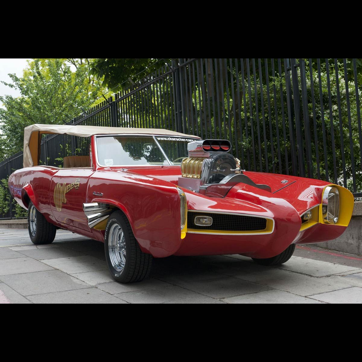 "A red Pontiac GTO used in the television show ""The Monkees"""