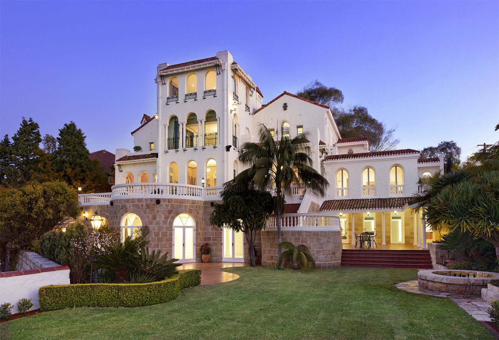 Spanish mission style estate located in New South Wales Australia