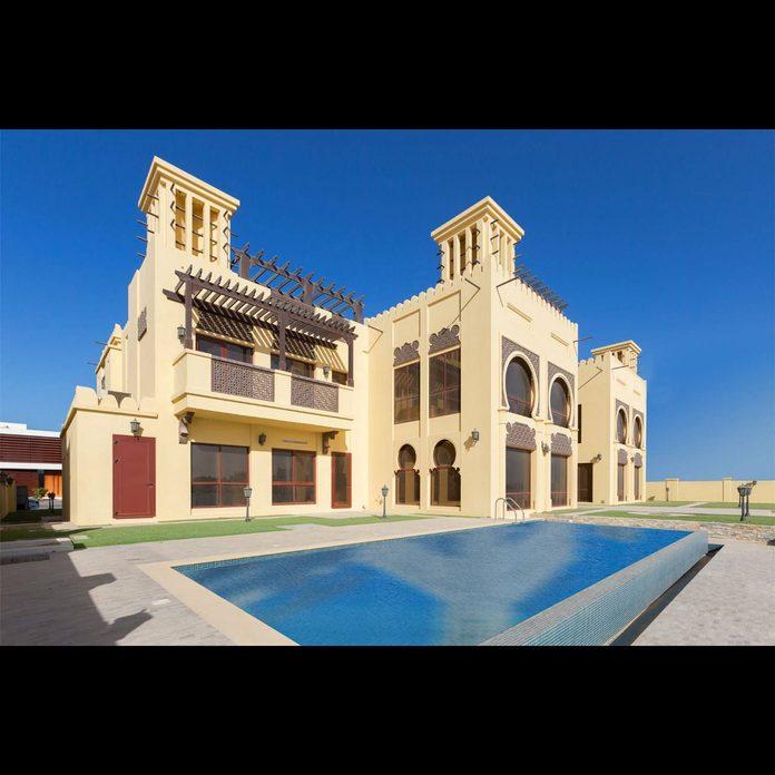 Dubai mansion with a pool