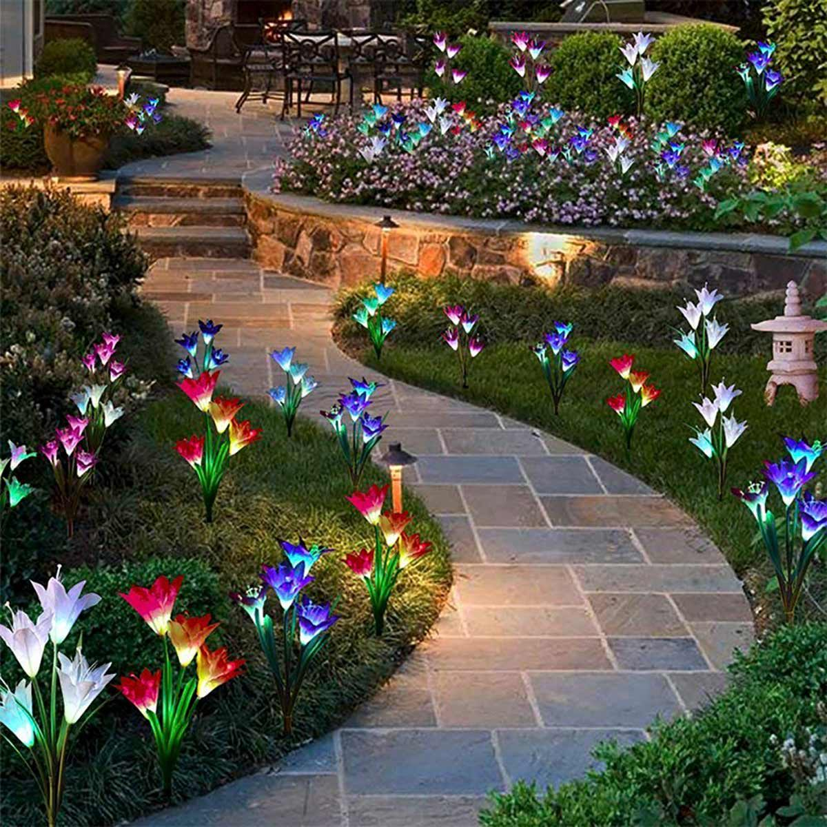 Backyard Flower Garden: 10 Flower Bed Lights We're Buying This Month