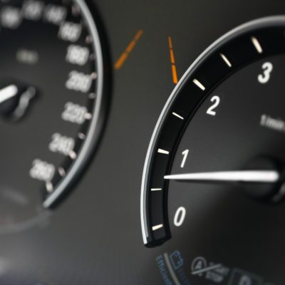 Close up shot of the dashboard a car.