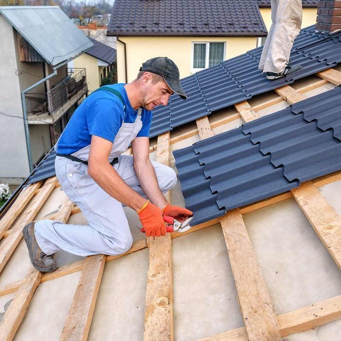 roofing on a roof