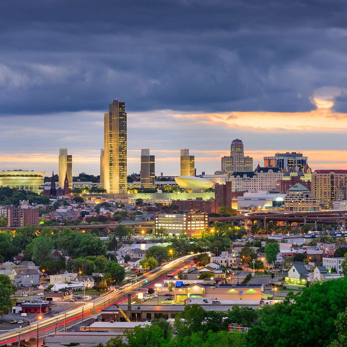 a skyline view of Albany, New York