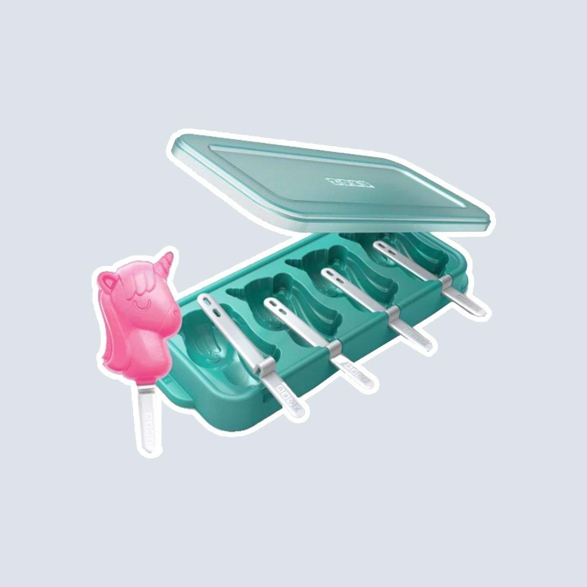 Zoku® Unicorn Ice Pop Molds in Blue (Set of 4)