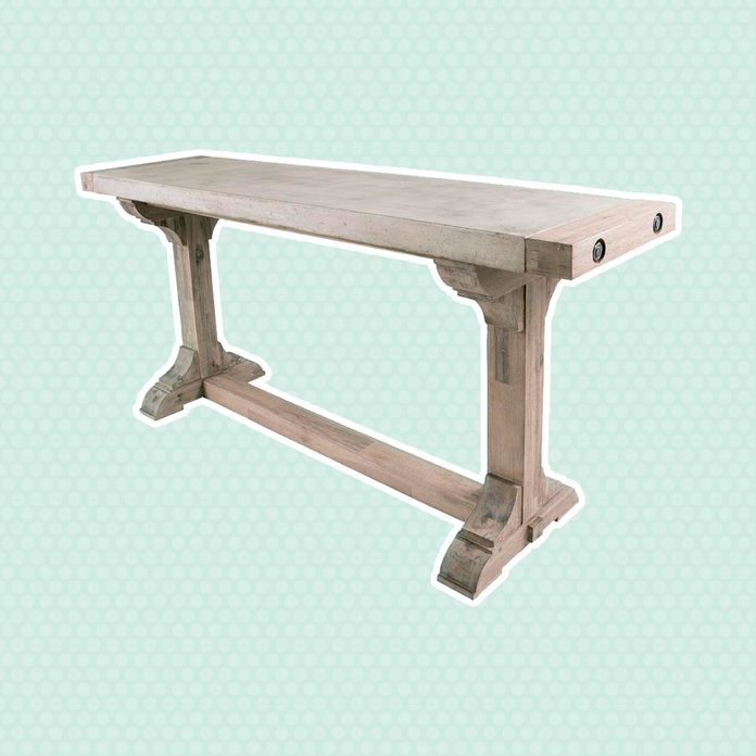 Concrete and Wood Console Table